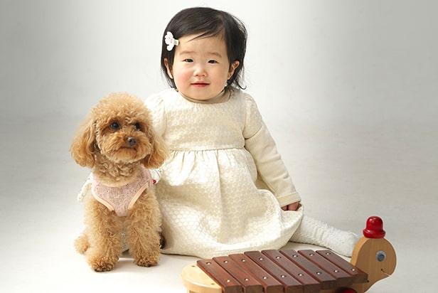 佐藤写真館が選ばれる理由02「ペットと一緒の撮影も可能です」のサムネイル