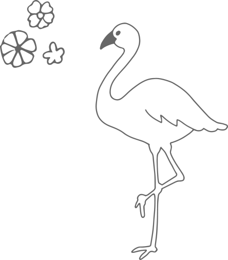 オーナメント:フラミンゴ