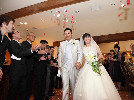 結婚式スナップ,フラワーシャワー