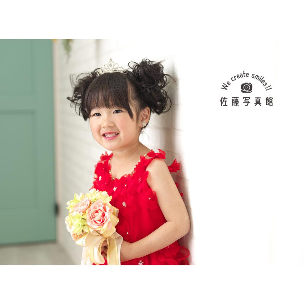 七五三 3歳 ドレス 女の子 倉敷 岡山